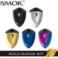 Wholesale smok electronic - 100% Original SMOK Rolo Badge Pod Kit With 250mah Built-in Battery 2ml Atomizer Mini Electronic Cigarette System Portable Vape Starter Kits