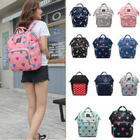 Wholesale baby diaper cartoons - Unicorn Baby Diaper Bags Mommy Backpack printed Fashion Nappy large Capacity Maternity Nursing Travel Backpack Nursing Bag FFA313 12styles
