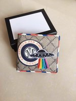 Wholesale top wallet brands for men - Top Quality Wallets for men fashion New Style brand Man letter real leather mini bag with box 11x10cm #496333 As Original 3 colors