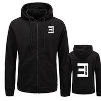 ingrosso nuove magliette stampate eminem-Felpa con cappuccio uomo autunno Eminem stampato Slim cerniera addensare Felpa uomo Abbigliamento sportivo Abbigliamento moda M-XXL taglia
