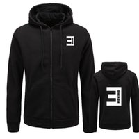 nuevas sudaderas estampadas eminem al por mayor-Nuevo otoño para hombre sudaderas con capucha Eminem impreso delgado cremallera espesar cardigan sudadera hombres ropa deportiva moda ropa M-XXL tamaño