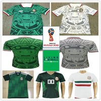 Wholesale purple custom - 1998 Mexico World Cup Classic Vintage Retro Jersey Campos Hernandez BLANCO Custom Home Green White Mexico football shirt camiseta futbol