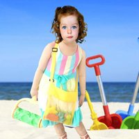 Wholesale portable sand - 4 Colors Kids Mesh Sand Bag Portable Beach Shell Net Pouch Child Toys Object Collection Storage Pounch AAA29