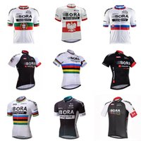 Wholesale road touring bikes - 2018 men bora Cycling Jersey tour de france Summer Breathable road Bicycle Shirts Mountain Bike Wear quick dry Cycling Clothing C2609