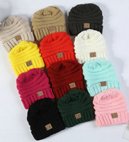 Wholesale wholesale fashion army hats for sale - Parents Kids CC Hats Baby Moms Winter Knit Hats Warm Hoods Skulls Hooded Hats Hoods