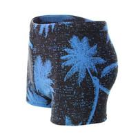 plaj pantolon desen toptan satış-Erkekler Plaj Pantolon Şort Hindistan Cevizi Ağacı Desen Sörf Boksörler Yüzme Sandıklar Mayo