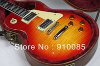 Wholesale guitar china sales resale online - 2013 New Arrival Guitar Sales Promotion China Factory Washed Cherry With Hard Case Mahogany Body Ebony Frets