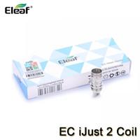 Wholesale eleaf lemo atomizer resale online - Eleaf iJust EC Dual Coils Replacement Heads for iJust Atomizer Melo Lemo Tank ohm ohm Authentic Electronic Cigarette Coil