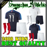 Wholesale France Football Kits - france kids kit pogba soccer Jersey 2018 World Cup 18 19 PAYET DEMBELE MBAPPE GRIEZMANN KANTE national team football shirts COMAN AWAY whit
