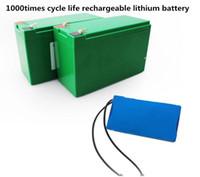 bateria de lítio de emergência venda por atacado-12 V 25Ah 300 W bateria de lítio à prova d 'água para o pulverizador da agricultura ferramentas de poder localizador de pesca Bomba Solar luz de rua uso de luz de Emergência