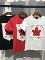 Wholesale Ds Shirt - 2018 Brand Luxury Famous Men's T-shirts Man Tees Summer breathable short-sleeved ICON DS Designer 3D printed Canada Maple Leaf ared2