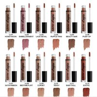 Wholesale Light Pink Lip Gloss - NYX lip lingerie liquid Matte Lip Cream Lipstick 12 colors Charming Long-lasting Brand Makeup Lipsticks Lip Gloss free shipping