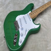 Wholesale light blue electric guitar - ree Shipping Factory Custom Shop new Best Price Light green F ST electric guitar stratocaster