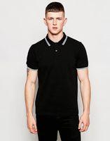 Wholesale clear 16 - Men's Counter Quality Casual POLO Shirt Men's Slim Lapel Fashion British Van Simple Classic Short Sleeve POLO Shirt 16 Colors