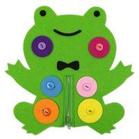 Wholesale felt toys - Nonwoven Fabric Children Intelligence Toys Zipper Button Animal Toys The Teaching Equipment Of The Kindergarten Felt Handmade DIY 5bc W