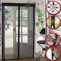 cibinlik kapıları toptan satış-Sihirli Mesh Hands-Free Ekran Kapı mıknatıslar anti-bug Fly Sivrisinek Kapı Anti-Böcek Net Netleştirme Megic Popüler Taze Dışarı Çıkmak Bugs
