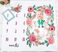 fotos de meninas de estilo venda por atacado-Bebê menina menino folha de cama estilo nórdico flor folha branca foto pano de fundo fotografia prop tiros folhas