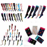 Wholesale wholesalers tube socks for sale - 34 styles Unisex Stocking floral Socks Men Women Sport elastic compression socks high long tube running Outdoor Socks home clothing AAA1150