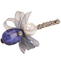 имитационные связи оптовых-Элегантный алмазный бур шпилька моды имитация жемчужина лук зажим для галстука
