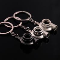 Wholesale boy machines - hot New Auto Metal Turbine Keychain Car Turbo Charger Blowing Machine Key Rings KeyChain Pendants Fashion Jewelry drop ship BY DHL 170871