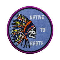 Wholesale indian clothing free shipping online - Purple Indian Embroidered Iron On Patch Motorcycle Biker Club MC Front Jacket Vest applique Patches for clothing