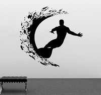 художественное оформление оптовых-DSU Sport Series Wall Decal Extreme Surfer Adventure Surfing Wall Sticker  Art Design Mural Home Livingroom Decor
