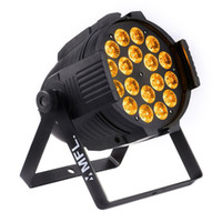 Wholesale par lights online - Par LED Par light X18W RGBWA UV in1 Led Par Can for DJ Party Stage Event with a flycase