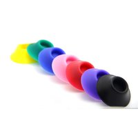 Wholesale rubber holder ego online - Vape Pen Rubber Stand Base Silicone Holder for eGo EVOD Battery CE4 Atomizer E Cigarette Display Accessory DHL Free