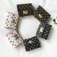 Wholesale kids princess handbags resale online - Kids Handbags Fashion Korean Girls Mini Princess Coin Purses Old Flower Design Kids Chain Shoulder Bags Candy Bags Christmas Gifts