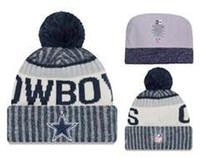 Wholesale purple cloche hat - 2018 New arrival! all football team winter beanies football Skateboards beanie sport hat warm cap for man and women warm beanies