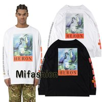 Wholesale women winter shirts - New York Fashion High Quality Chinese Style Heron Preston Men Women Street Luxury Cotton Hoody Casual Winter Long Sleeved T - Shirt