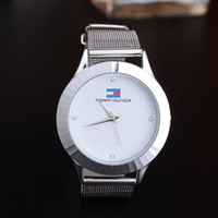 Wholesale metal dress pins - New fashion famous brand silver Ladies watch metal mesh stainless steel dress watches Casual luxuryq uartz women watches relojes