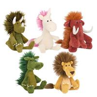 waldtiere plüsch großhandel-Plüschtiere Animal Plüschtiere Forest Series Doll Giraffe Cute Dolls Senden Sie Kind Geburtstagsgeschenk