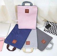 fall ipad leinwand groihandel-Reißverschluss multifunktionale mehrschichtige A4 Aktentasche tragbare iPad Tasche Tasche Handy Oxford Leinwand Aktentasche