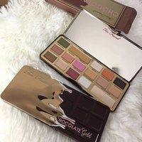 Wholesale Fa Shipping - Newest too fa ced Chocolate Gold palette eyeshadow Too fA ce d Chocolate Gold 16 colors Peache Eye shadow Makeup Cosmetics DHL Free shipping