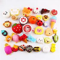Wholesale food phone charms - Fashion Kawaii Squishy Rilakkuma Donut Foods Soft Squishies Phone Strap Bag Charm Slow Rising Squishies Jumbo Buns Keychain Kids Toys