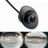 Wholesale car front rear view camera - 600L CCD 180 degree camera Fisheye LENS wide angle Car Rear Front side view reverse backup camera 360 rotation night vision waterproof