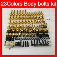 Wholesale 94 ninja plastics resale online - Fairing bolts full screw kit For KAWASAKI NINJA ZX11R ZX R ZX11 ZZR1100 Body Nuts screws nut bolt kit Colors
