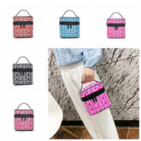 Wholesale Cosmetic Handbags - PINK Makeup Bag Love Pink Cosmetic Bags Double Zipper Handbag Portable Storage Bags 18*18*18cm Travel Bag 30pcs OOA4019