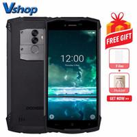 doogee android telefones venda por atacado-DOOGEE S55 Telefone Triple Proofing, 4 GB + 64 GB, 5500mAh, Câmeras Duplas de Volta, Identificação de Impressão Digital, 5.5 inch Android 8.0 4G, Dual VoLTE