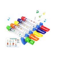 Wholesale Colorful Flutes - 5Pcs set Water Flute Toy Baby Bath Toys Plastic Beach Sand Toy for Kids Colorful Children Shower Funny Sound Music Instrument