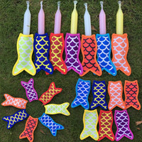 Wholesale print tools - New Mermaid printing popsicle holders Ice Popsicle sleeves freezer Pop holders for kids Summer Ice Cream Tools WX9-429