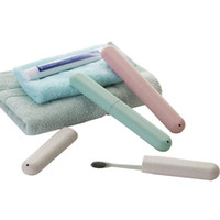 ingrosso tappi per spazzolini da denti-Travel Toothbrush Cover Case Cap Hike Camping Brush Cleaner Protegge antibatterico Porta spazzolino Contenitore Box Tubo Tooth
