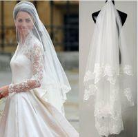 One Layerhot sale high quality Wholesale wedding veils bridal accesories lace one layer 1.5m veil bridal veils Wedding Veil Styles