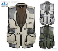 Wholesale Plus Equipment - Fall-2015 new mens fishing equipment cardigan vests waistcoat plus size XXXL 5XL outerwear clothing photographer sleeveless jacket 56