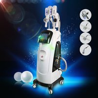 Wholesale Laser Lipolysis - 2018 Newest Fat Freezing Machine With Double Cool Sculpting Cryo Lipolysis + Lipo Laser + Cavitation+RF Weight Loss Slimming Machine For Spa