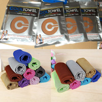 Wholesale home textiles - 88 cm Ice Cold Towel Cooling Summer Sunstroke Sports Exercise Cool Quick Dry Soft Breathable Cooling Towel Home Textiles WX T13