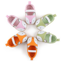 Wholesale sole cute online - Baby Fox Soft Sole First Walker Shoes Infant Cartoon Kids Princess Shoes Newborn Boys Girl Toddler Non Slip Prewalker Cute Animal Shoes