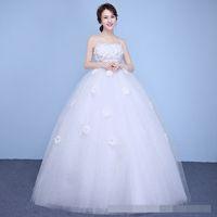 ingrosso porcellana dell'abito di cerimonia nuziale di qualità-Cina Lace Up Ball Gown appliques Abiti da sposa di qualità 2018 Customized Plus Size Abito da sposa Foto reale
