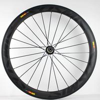 ingrosso ruote da corsa in fibra di carbonio-Leggero Oem Custom Carbon Fiber 50mm Copertoncino Road Racing Bike 700C Cerchi Set ruote ruote bici Aero